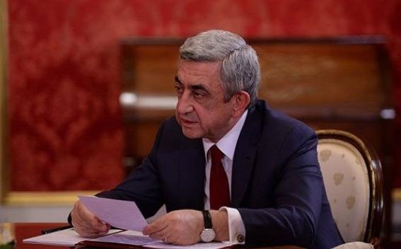 Սերժ Սարգսյանը ստորագրել է Ազգային ժողովի ընդունած մի շարք օրենքներ