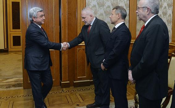 Սերժ Սարգսյանը ընդունել է ԵԱՀԿ Մինսկի խմբի համանախագահներին