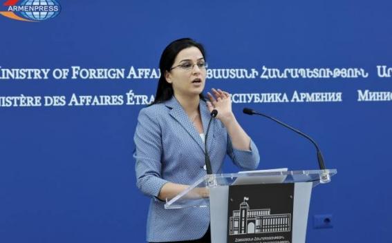 Current talks around Nagorno Karabakh being held on no concrete proposals - MFA spokeswoman