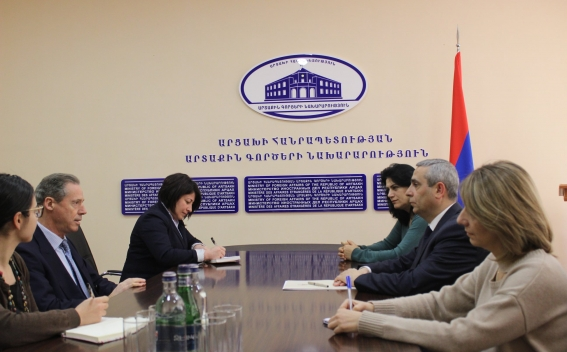 Foreign Minister of Artsakh Discussed Issues on the Activities of