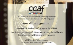 Hollande to Participate in Annual Dinner of the Co-ordination Council of Armenian organizations of France