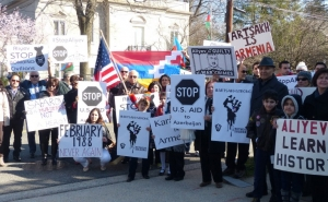 Armenian Americans Protest against Azerbaijani Aggression towards the Republic of Artsakh