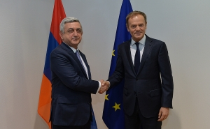 The Key Topic of Tusk-Sargsyan Meeting Was the New Framework Agreement Between Armenia and the EU