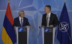 Sargsyan and Stoltenberg Discussed Issues Related to the Further Development of the Partnership with the NATO