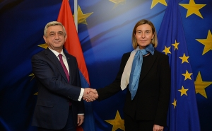 Sargsyan and Mogherini Discussed a Wide Range of Issues for further development the Armenia-EU Relations