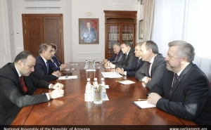 Ara Babloyan Meets with RF FA State Duma Speaker Vyacheslav Volodin