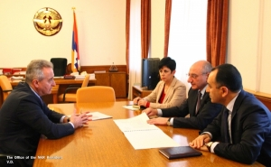 Artsakh President Met with Vice-Chairman of the American University of Armenia Ashot Ghazaryan