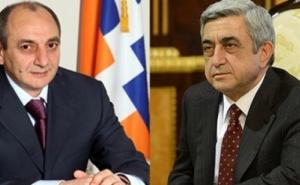 Bako Sahakyan Congratulated Serzh Sargsyan on the Occasion of Being Elected as the RA Prime Minister