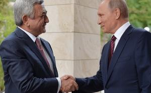 Vladimir Putin Congratulated Serzh Sargsyan