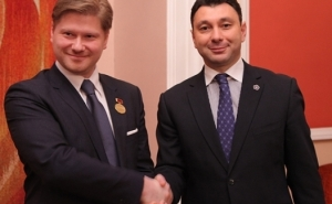 Sharmazanov Expressed Gratitude to the Head of Latvia-Armenia Parliamentary Friendship Group for the Ratification of the RA-EU Agreement