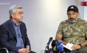 Armenia PM Serzh Sargsyan Meets the Opposition Leader in Marriott