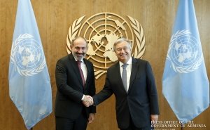 Nikol Pashinyan Meets with UN Secretary-General António Guterres