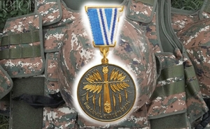 "Artsakh's Defense Army Serviceman Aghasi Mkrtchyan Posthumously Awarded with the ""For Service in Battle"" Medal"