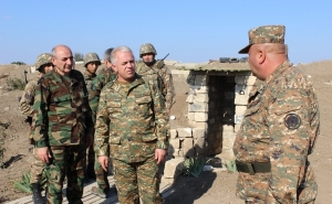 Bako Sahakyan Visits to the Eastern Section of the Artsakh-Azerbaijani Borderline