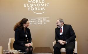 Nikol Pashinyan Discusses Cooperation Prospects with Mitsubishi Heavy Industries, JICA and eBay Executives in Davos