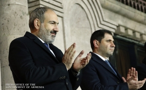 PM Watches Armenia-Finland Football Match at Stadium