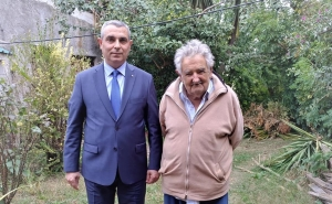 Artsakh Foreign Minister Masis Mayilian Met with Former President of Uruguay Jose Mujica