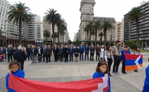The Artsakh Delegation Participated in the Events Dedicated to the 104th Anniversary of the Armenian Genocide Held in Uruguay