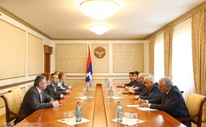 Artsakh Republic President Met with the Delegation Headed by President of the Armenian Constitutional Court