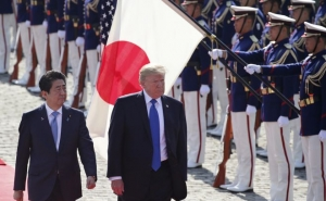 Donald Trump Arrived in Tokyo
