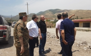 Artsakh Republic President Bako Sahakyan Visited the Regions of Askeran and Martakert
