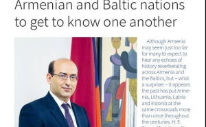 Armenian Ambassador Tigran Mkrtchyan's Interview Published at The Baltic Times