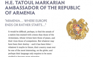 Armenian Ambassador's Article Published at Diplomatic World Magazine