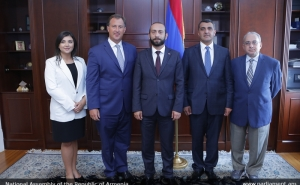 Head of Parliament Has Meetings with Representatives of the U.S. Armenian Organizations