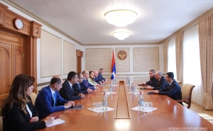 President of Artsakh Received the Delegation of the Commission Regulating Public Services of Armenia