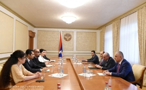 "Bako Sahakyan Received Representatives of the ""My Step Foundation"""