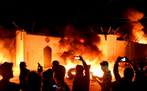 Iraq Unrest: Protesters Set Fire to Iranian Consulate in Najaf