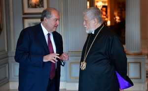 President Sarkissian Had a Phone Conversation with the Catholicos of the Great House of Cilicia Aram I