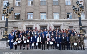 Solemn Ceremony of Awarding Athletes and Coaches in the Artsakh Republic Presidential Residence