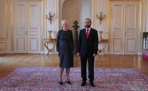 Queen Margrethe II of Denmark ReceiveD Armenian Speaker of Parliament