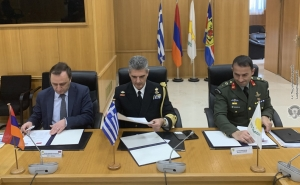 Armenia Sgns Bilateral and Trilateral Defense Cooperation Plans with Greece and Cyprus