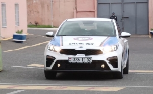 South Korean Government Gave Kia Car to Armenia's Police as a Present