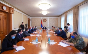 Artsakh President Convoked a Consultation on the Defense Army Officers' Housing Issues