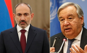 Prime Minister Pashinyan Holds Phone Conversation with Antonio Guterres