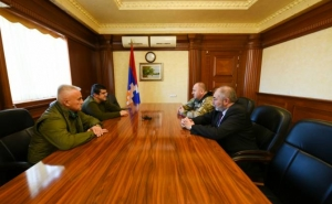 President of Artsakh Receives Head of Volunteers Union of Crimea