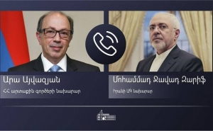Armenian, Iranian FMs Discuss Issues of Regional Security and Stability